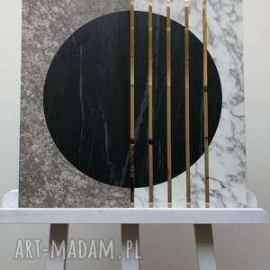 obraz calacatta beton złoto 50x50cm, dekoracja, obraz, panel, zloto