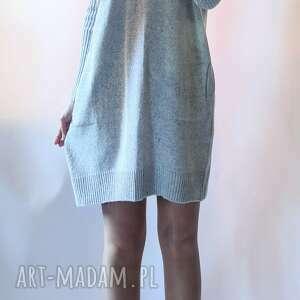 sukienka oversize z kieszeniami, sukienka, gładka, bombka