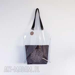 torba XL transparentna - ,plażówka,torba,torebka,folia,transparentna,wodoodporna,