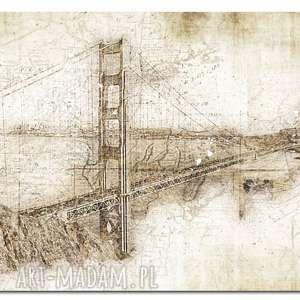 obraz xxl most 1 - 120x70cm na płótnie design, obraz, most, płótno