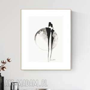 Grafika 30x40 cm wykonana ręcznie, abstrakcja, obraz do salonu