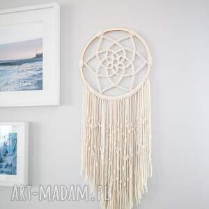 dekoracje łapacz snów makrama ecru boho duży, snów, duży
