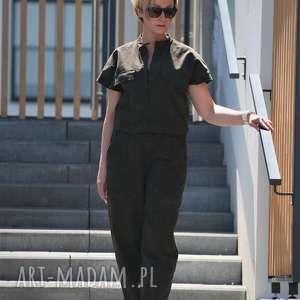 spodnie army-kombinezon, wojskowy, kombinezon army, khaki kombinezon, jesienny
