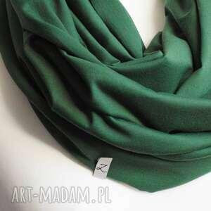 Zielony modny komin bawełniany damski, tuba na wiosnę, pomysł