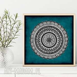 Mandala 50x50cm malgorzata domanska plakat, plakat mandala