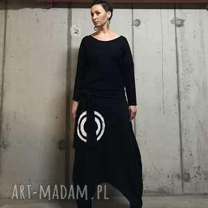Black sea-sukienka na jesień sukienki ququ design boho sukienka