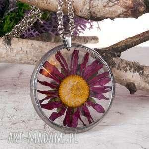 naszyjnik z suszonymi kwiatami terrarium 5,5cm tiffany 1122, naszyjnik