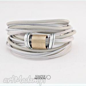 TRIO MONO S II, bransoletka, naszyjnik, sznurki, handmade