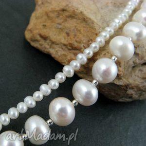 ręcznie robione perły duże i małe