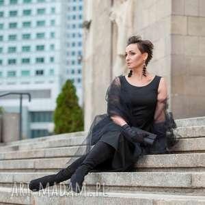 Czarna elegancka sukienka sukienki ququ design elegancka