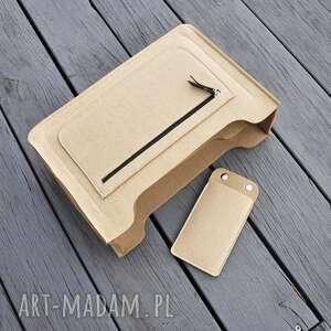 organizer lux do torebki - beżowy filc, organizer, przybornik, filcowy, filc