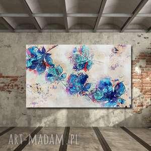 obraz xxl liście 1 - 120x70cm na płótnie modern, obraz, liście, abstrakcja