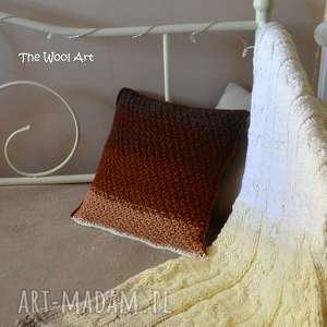 poduszki dekoracyjna poszewka na poduszkę ombre, poduszka, poszewka, dziergana