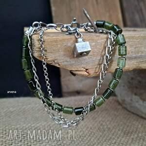 turmaliny zielone - bransoletka 012, turmaliny