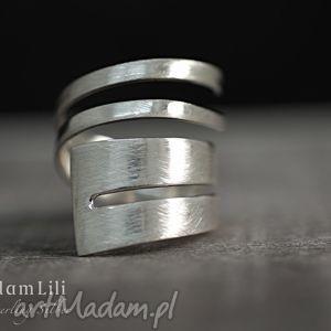 925 srebro Minimalizm II pierścionek, srebro, 925, koło, skręt, owal