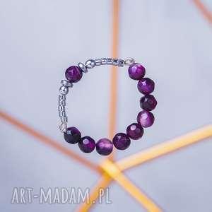 whw high ring, pierścionek, agat, hematyt, fasetowany, kolorowy, dwustronny