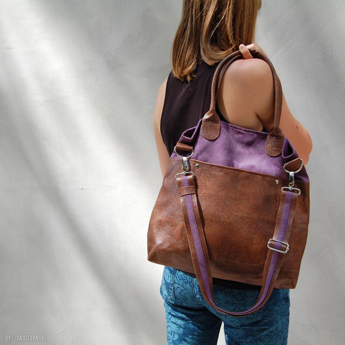 brązowe na ramię wygodna fiella - duża torba zgaszony