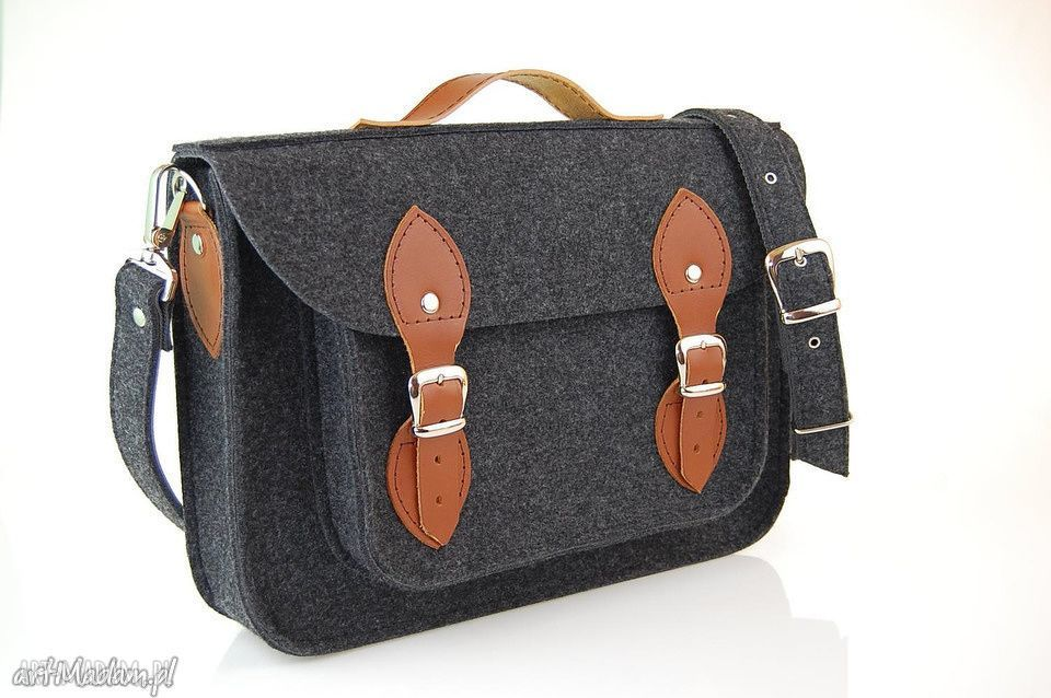 hand-made na laptopa filcowa torba na laptop 15 - personalizowana - grawerowana dedykacja