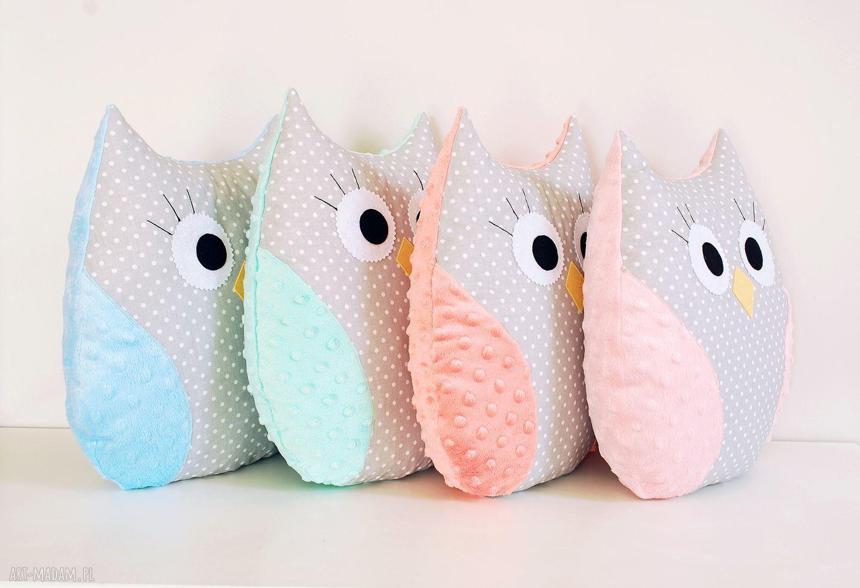ręcznie zrobione zabawki sowa poduszka