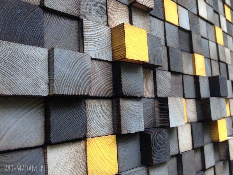 handmade dekoracje obraz mozaika drewniana na zamówienie