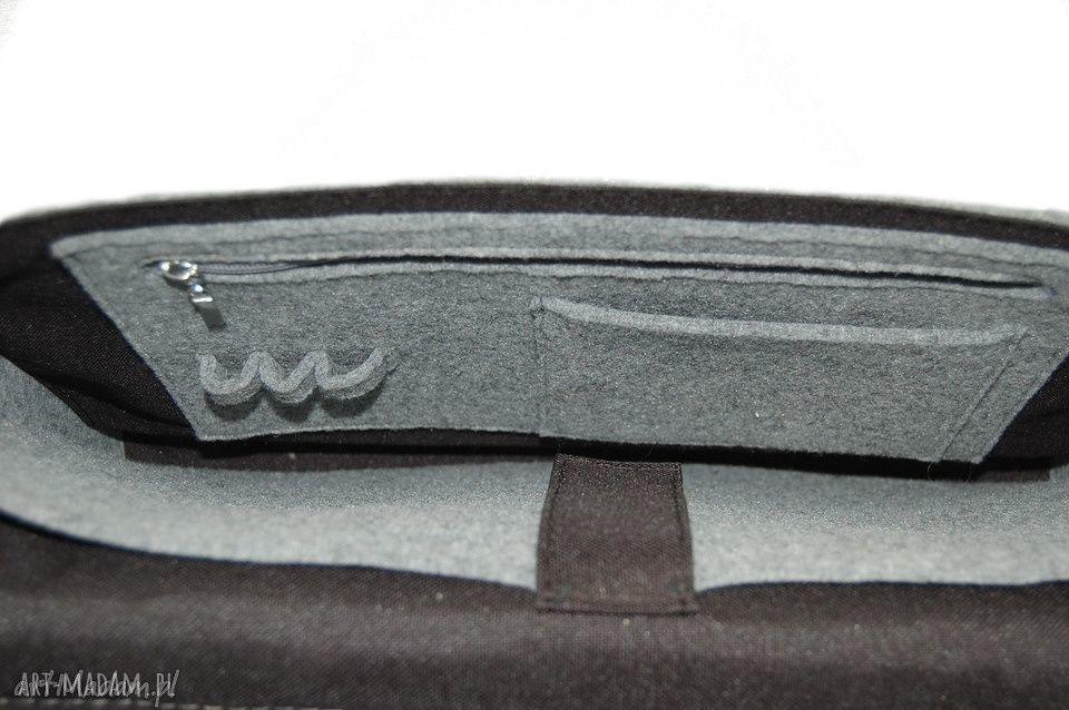 na laptopa skóra filcowa torba - personalizowana