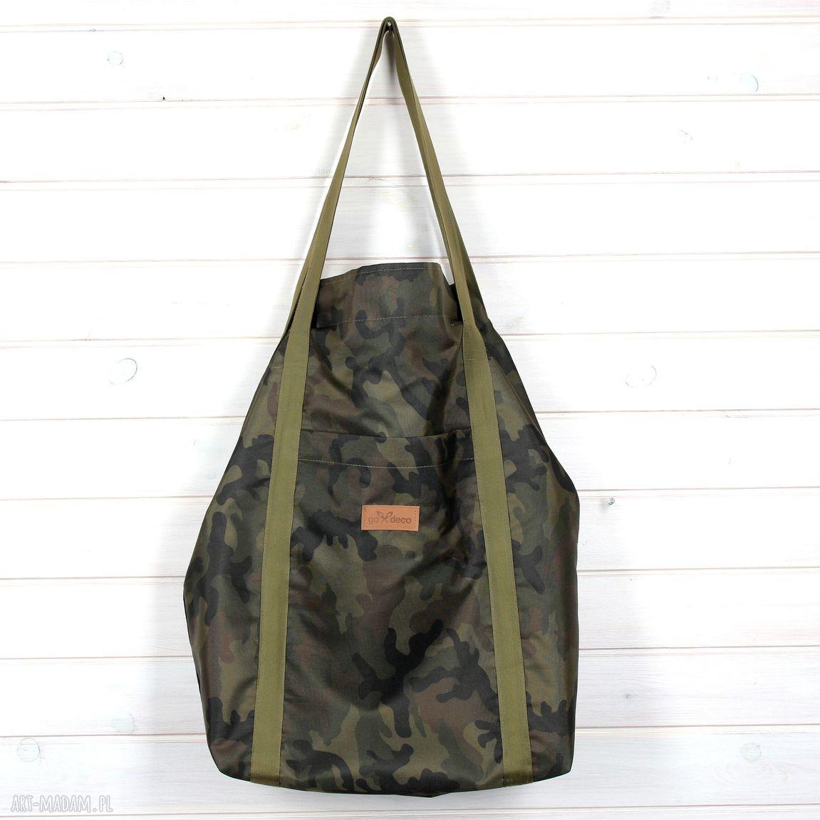 moro na ramię zielone pojemna torba xxl