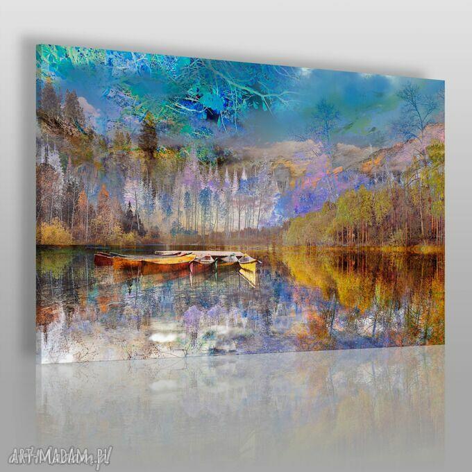 ręcznie wykonane obrazy obraz na płótnie - pejzaż góry - 120x80 cm (30701)