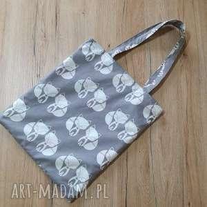 ręcznie robione torba bawełniana - lisy
