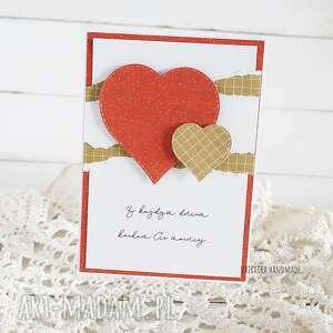 vairatka-handmade kartka walentynkowa z sercami 596