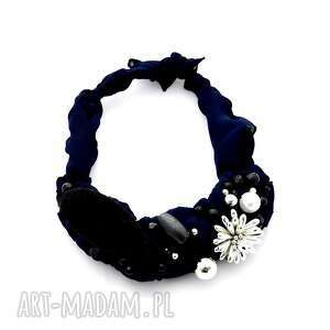 hand made naszyjniki dark blue naszyjnik handmade