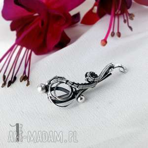 Prezent Hedera I srebrna nausznica., nausznica, srebro, kolczyki, długie