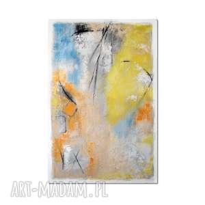 Mad hatter, abstrakcja, nowoczesny obraz ręcznie malowany, obraz,
