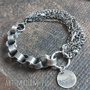 oryginalny prezent, treendy bransoletka srebrna, srebro, srebro