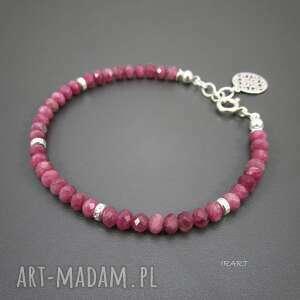 bransoletki turmalin różowy z rozetą, turmalin, biżuteria