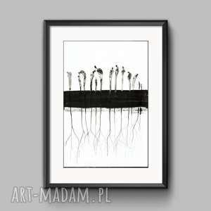 obraz A3 ręcznie malowany, abstrakcja, do salonu, minimalizm, obrazy-na-płótnie