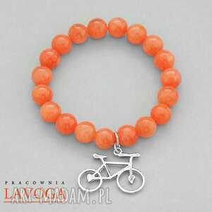 jade with pendant in orange - jadeit rower