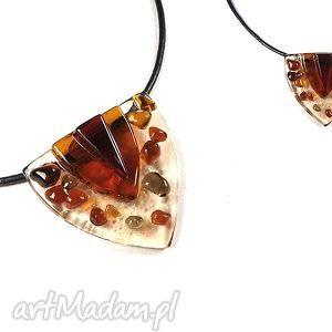 smirriam brown - malutki wisior szklany biżuteria autorska wykonana w technice