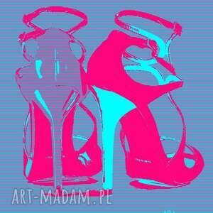 Jimmy pink, jimmy, choo, obraz, moda, minimalizm, sztuka