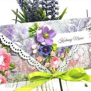 Kartka dla mamy - skąpana w fioletach scrapbooking kartki