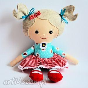 lala rojberka - emilia, lalka, szmacianka, czerwony, kapturek, zabawka