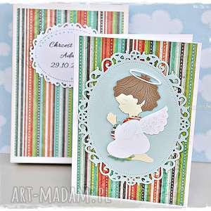 kartka w pudełku na chrzest - personalizacja - kartka, chrzest, personalizacja