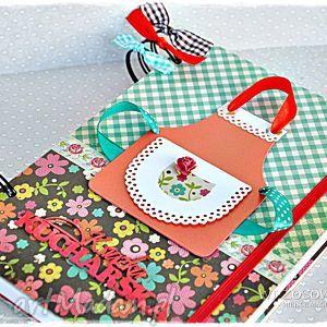 scrapbooking notesy przepiśnik z przekładkami, przepiśnik, przepisy, babcia, prezent