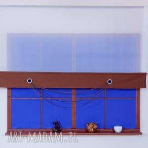 Panel - Ekran z Kółeczkami Brąz, panel, ekran, woal, tafta, firana, lamówka