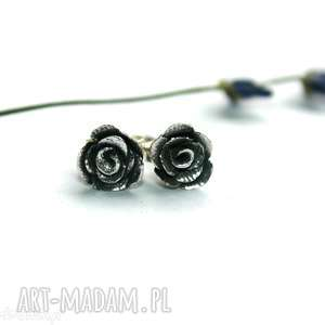 małe różyczki, róża, art, clay, oksydowane, kwiatek, wkrętki