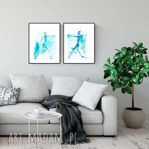 zestaw 2 oryginalnych grafik A3 , abstrakcja, akt, elegancki minimalizm