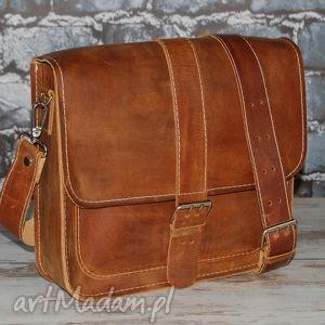 męskie torba na ramię - skóra naturalna, torba, męska, skóry, teczka
