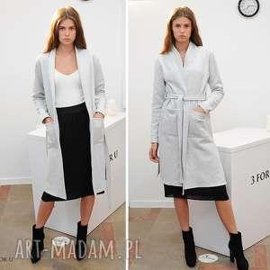 Płaszcz simple long coat szary płaszcze trzyforu płaszcz, 3foru