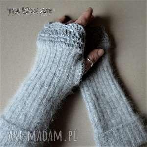 rękawiczki mitenki - rękawiczki, mitenki, prezent, nadłonie, wełniane