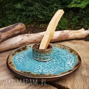 talerzyk ceramiczny do santo palo c332, santo, podstawka, biala szałwia