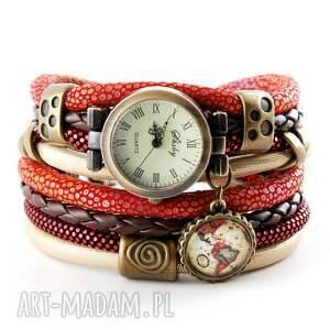 zegarki zegarek - bransoletka z globusem, zegarek bransoletka